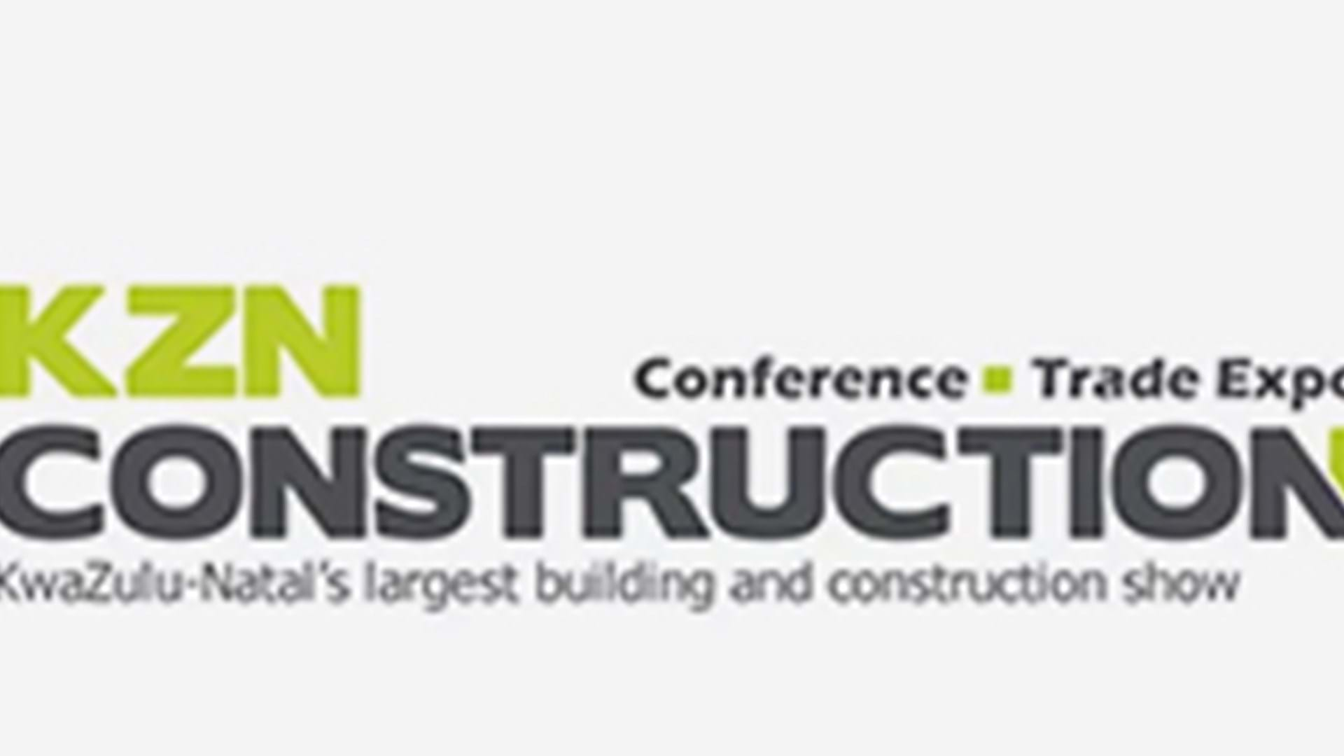 KZN Construction Conference Trade Expo logo, with tagline KwaZulu-Natal's largest building and construction show.